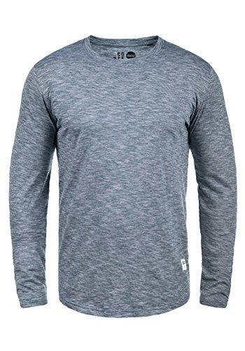 !Solid Ligos Herren Longsleeve Langarmshirt Shirt Mit Rundhalskragen Aus 100% Baumwolle, Größe:L, Farbe:Insignia Blue (1991) -