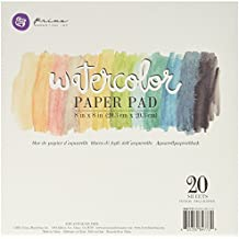 Prima Marketing Watercolor Gouache Cold Press Bloc de papel (20,3 x 20,3 cm