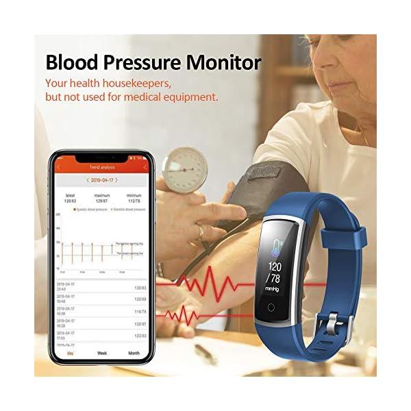 Lintelek Pulsera Actividad Impermeable, Reloj Inteligente con Pulsómetro y Tensiómetro, Reloj Deportivo con GPS Compatible a Android y iPhone 2