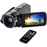 CkeyiN 16X Zoom Full HD Caméscope Vidéo 24 MP, 3.0 pouce LCD écran de 270 degrés de rotation, Vision de Nuit infrarouge avec Télécommande