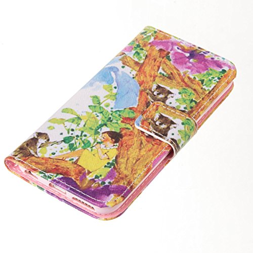 PU Silikon Schutzhülle Handyhülle Painted pc case cover hülle Handy-Fall-Haut Shell Abdeckungen für Smartphone Apple iPhone 6 6S (4.7 Zoll)+Staubstecker (T7) 4