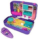 Polly Pocket Mochila Vacaciones en la playa, muñecas con accesorios (Mattel FRY40)
