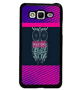 PrintDhaba Owl D-3532 Back Case Cover for SAMSUNG GALAXY GRAND PRIME (Multi-Coloured)