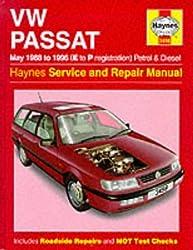 VW Passat Petrol and Diesel (May 1988-96) Service and Repair (Haynes Service & Repair Manual 3498) by R. M. Jex (1998-11-09)