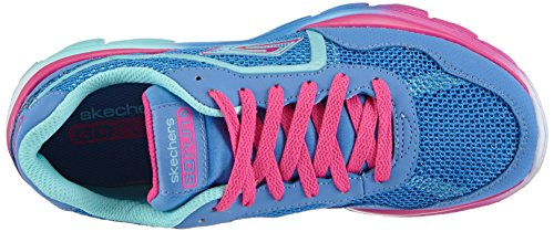 Skechers Go Run Ride, Chaussons Sneaker Fille Bleu (Pwmt)