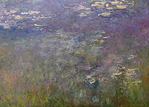 CLAUDE MONET Water Lilies, detail c1915-26 Reproduction Poster on 200gsm A3 Low-Sheen Satin Art