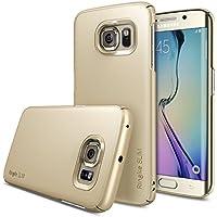 Ringke Dual Coating Tecnología Protección de Borde Funda para Samsung Galaxy S6 Edge - Eco Paquete - Slim-Gold