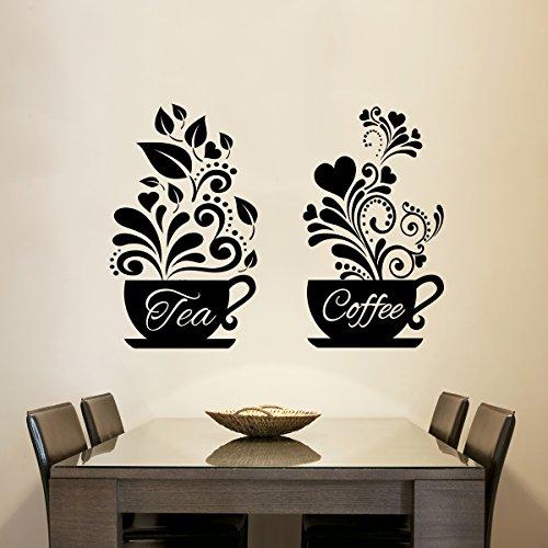 Wand Aufkleber Home Decor Kaffeetasse Wand Kunst Liebe Tee Kaffeetassen Küche Wand Tee Aufkleber Vinyl Aufkleber Restaurant Pub Decor ()
