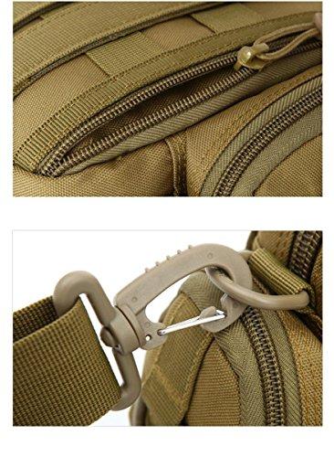 F@All'aperto auto equitazione sacchetto di nylon impermeabile, borse a spalla piccole verticale, gli appassionati di militari per appendere borse, borse a tracolla, borse, Digital Camo , desert Khaki