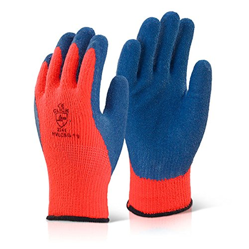 Orange Coldstar gants en Latex Taille 10