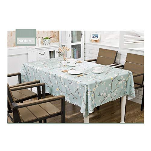 ff Baumwolle und Leinen wasserdicht und ölbeständig, runden Tisch rechteckigen Couchtisch Tischset Hause (Pflaume) (Size : 140 * 180(cm)) ()