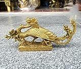 Bronze Statue, Chinesische Drachen Statue, Feng Shui-Kunsthandwerk, Gl�Cks skulptur, Schreibtisch Sammlung, Hausskulptur, Tier Dekoration