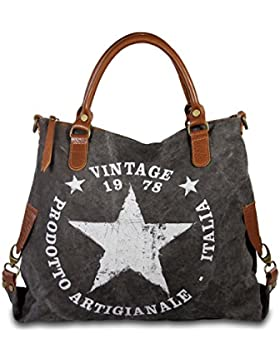 IO.IO.MIO STAR 2 Borsa a mano in pelle Canvas e Shopper colore a scelta, 35 – 45 x 40 x 11 cm (B x H x T)