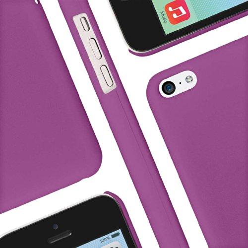 EMPIRE KLIX Slim Fit Hard Case für Apple iPhone 5C _ P Soft Touch Radiant Orchid