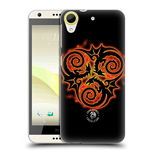 Official Anne Stokes Triple Dragon Fire Tribal Hard Back Case for HTC Desire 650