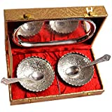 Handicraft Hub India Silver Plated Decorative Bowl Set for Diwali Gift Set | Set of 5 Items