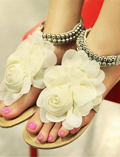 UWSZZ IL Sandali eleganti comfort Scarpe Donna-Sandali-Formale / Casual-Comoda-Piatto-Finta pelle-Blu / Rosa / Beige beige