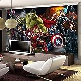 Avengers Carta Da Parati Fotografica Carta Da Parati 3d Personalizzata Per Pareti Hulk Iron Man Captain America Carta Da Parati Ragazzo Camera Da Letto Soggiorno Designer
