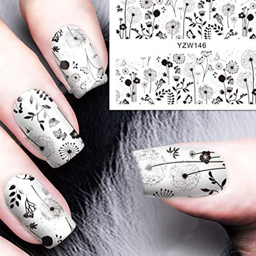 Bomcomi Impermeabilizzazione Decalcomanie del chiodo Stampante Art Stickers Watermark Tatuaggio Paster Unghie Stamping per Le Donne Ragazze