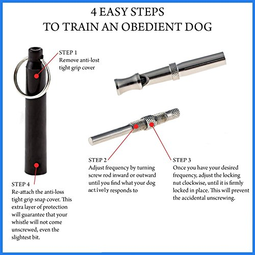 Mudder Training Hundepfeife mit Pfeifenband (Schwarz) - 3