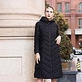 TT&FUSHI Winter Damen Daunenjacke, langer Abschnitt der Jacke , black , xxxl