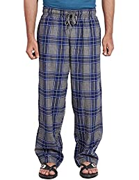 Twist Men's Blue And Grey Checked 100% Cotton Pyjama Sleepwear Night Wear With Contrast & Free Shipping