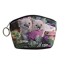 Cratone Dog Cat Pet Faux Leather Clutch Coin Purse Wallet PouchesStorage BagMultifunctional Women