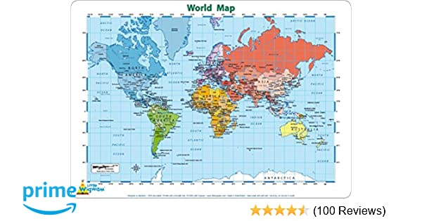 Little Wigwam World Map Placemat Amazon Co Uk Toys Games