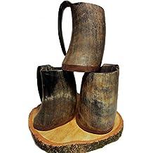 Wikinger Horntasse METBECHER Hornbecher Viking Mug Mittelalter Tasse Echthorn 0,3 - 0,7 Liter !!!