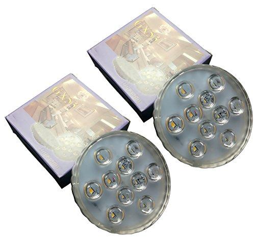 2 Stück Pro Packung 5 Watt GX53 LED Birne 3000K Warmes Weiß 500 Lumen SMD 5630 CFL Birne Ersatz GX53 LED Schrank Licht Energiesparendes Schrank Licht Kleiderschrank Licht Und Andere Innenbeleuchtung