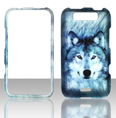 2D Snow Wolf LG Connect MS840Metro PCS Fall Hard Handy Snap auf Cover Fall Displayschutzfolie Htc Snap-handy