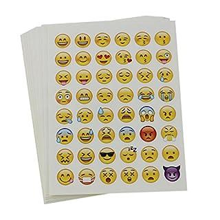 20 Sheets Die Cut Emoji Sticker for Phone Laptop Decor
