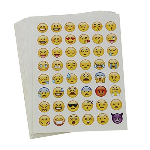 emoji aufkleber MagiDeal 20 Blätter Sterben Schnitt Emoji Aufkleber Für Telefon-Laptop Dekor