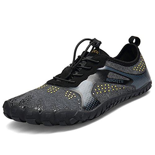 BAOLESEM Herren Damen Barfußschuhe Outdoor Fitnessschuhe Sportschuhe Trekking Schuhe,A-schwarz,eu40