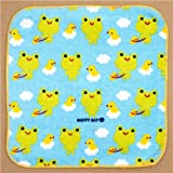 cute towel green froggy with rubber ducks