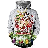 ☺Kapuzenpullover Liebhaber Herren Sweatshirt Hoodies mit Kapuzen Weihnachten Sweatjacke Top Bluse Trainingsanzüge Sport Fitness Training Basic Pullover Langarmshirt Premium Casual Männer Sweater