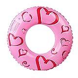 Amo el asiento inflable del flotador de la piscina del anillo de la natación del PVC del amor para los niños adultos Muchachas de los muchachos que juegan el juguete de la playa Parque acuático