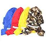 #5: Ocamo Dog Raincoat Pet PU Double Layers Waterproof Clothes with Reflective Strips Quick Drying