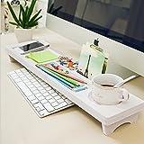 Earlybird Savings Wooden Desk Organiser Small Objects Storage Keyboard Commodity Shelf