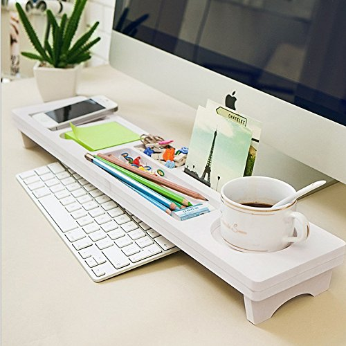 Earlybird Savings Wooden Desk Organiser Small Objects Storage Keyboard Commodity Shelf