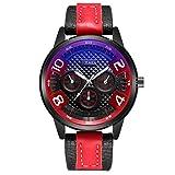 Xmansky Reloj hombre Acero Inoxidable Reloj de Pulsera de Lujo Moda Cronómetro Elegante minimalista, efecto luminoso