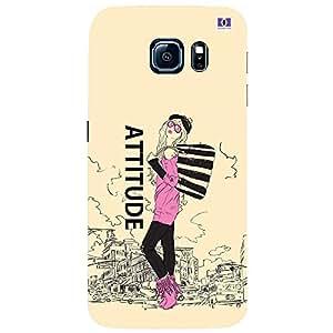 ATTITUDE - Mobile Back Case Cover For Samsung Galaxy S6