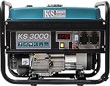 Könner & Söhnen KS 3000E - Generador de corriente (7 CV, motor de gasolina de 4 tiempos, cobre, arranque eléctrico, 3000 W, 16 A, 230 V)