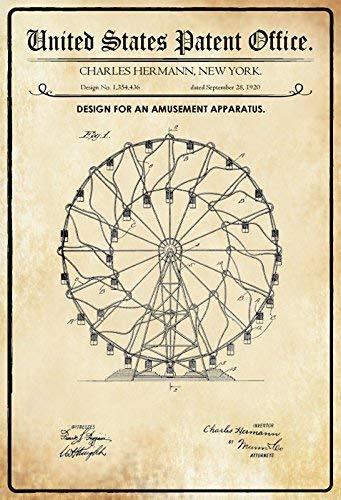 OKLS US Patente - Design für Rollschuhe - Design für einen Rollschuh - Cornelius - 1879 - Ausführung Nr. 213546 - Schild aus Blech, Blechschild, Blech, 1196, 7.8inch*11.8inch