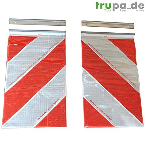 Preisvergleich Produktbild ORAFOL 2x Warnflagge 250 x 400 mm Ladebordwand Hebebühne Markierung links+rechts