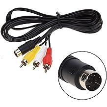 Childhood 1.8m Audio Video Cable de cable AV 9Pin a RCA Cable de conexión para Sega Genesis Mega Drive 2 3