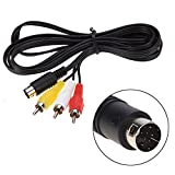 Childhood 1.8m Audio Video Cable de cable AV 9Pin a RCA Cable de conexión para Sega Genesis Mega...