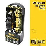 Van Vault S10673 5 m x 25 mm Ratchet Strap - Yellow