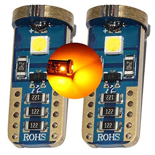 Lampadine LED CAN-bus per indicatori di direzione laterali dell'auto, color ambra-arancione, modello T103030, T15 501 W5W EA2R6