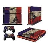 Skins für PS4 Custom Controllers - Cover für Playstation 4 Spiele - Aufkleber für PS4 Konsole Sony Playstation 4 Zubehör mit Dualshock 4 Two Controller Skins - French Flag